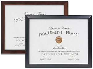 Lawrence Estero 8.5x11 Wood Document Frame