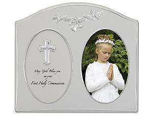 Lawrence 4x6 Silver Metal First Holy Communion Frame