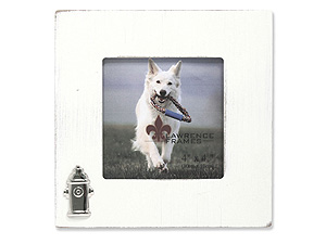 Lawrence 4x4 Square Dog Frame w/Fire Hydrant Ornament
