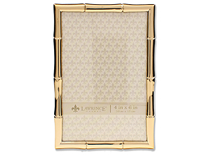 Lawrence Gold Metal Bamboo Frame For 4x6