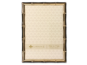 Lawrence Gold Metal Bamboo Frame For 5x7