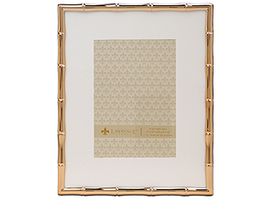 Lawrence Gold Metal Bamboo Frame 8x10 Matted For 5x7