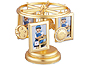 Lawrence Gold Leaf Celestial Wind Up Musical Carousel Frame