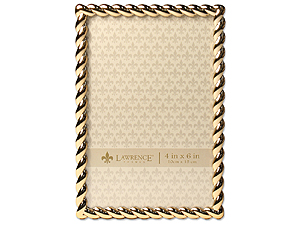 Lawrence Gold Metal Rope Frame For 4x6
