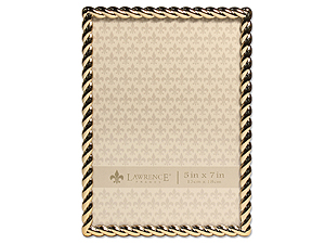 Lawrence Gold Metal Rope Frame For 5x7