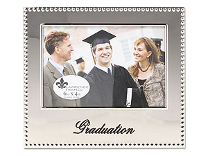 Lawrence 4X6 Graduation Beaded Silver Frame