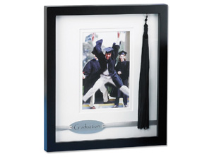 Lawrence Graduation Black Shadowbox 4x6 Picture Frame