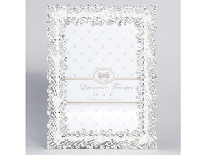 Lawrence 5x7 Jasmond Silver Metal & Crystal Spray Frame