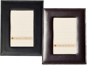 Lawrence Stitched Leather Picture Frame - 4x6