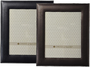 Lawrence Stitched Leather Picture Frame - 8x10