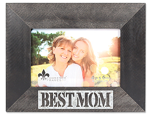 Lawrence 4x6 Best Mom Antique Black Wood Frame