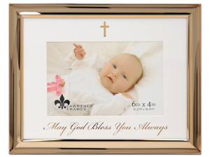 Lawrence 4x6 Foiled Expressions Frame - May God Bless You