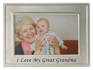 Lawrence 4x6 Silver Sentiments I Love My Great Grandma Frame