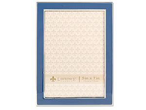 Lawrence 5x7 Navy Blue Enamel Picture Frame