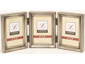 lawrence 2x3 triple pewter beaded frame