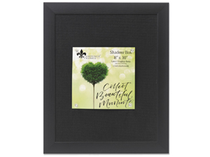 Lawrence 8x10 Professional Black w/Black Linen Shadow Box