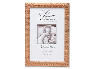 Lawrence 4x6 Rose Gold Shimmer Metal Frame