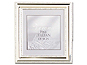 Lawrence 5x5 Beaded Silver Plated Picture Frame