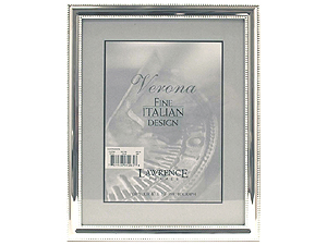 Lawrence 8x10 Beaded Silver Plated Picture Frame