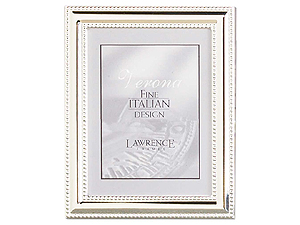 Lawrence 4x5 Beaded Silver Plated Picture Frame