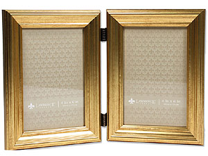 Lawrence Sutter Burnished Gold Frame For 4x6 Double