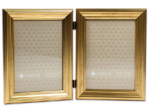 Lawrence Sutter Burnished Gold Frame For 5x7 Double