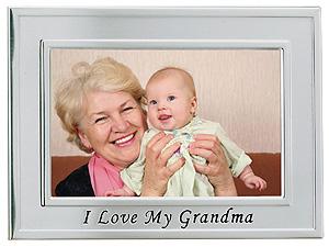 Lawrence 4x6 Silver Sentiments I Love Grandma Frame