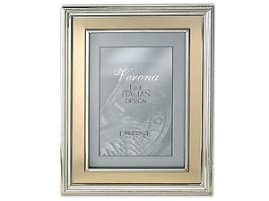 Lawrence Silver Plated Metal Frame With Gold For 4x6