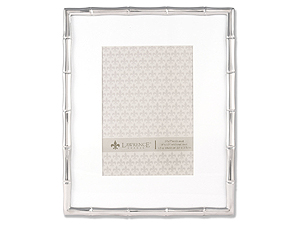 Lawrence Silver Metal Bamboo Frame 8x10 Matted For 5x7