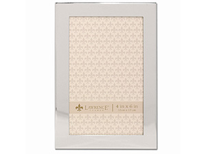 Lawrence 4x6 Flat Silver Metal Engravable Picture Frame