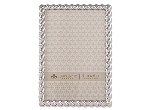 Lawrence Silver Metal Rope Frame For 4x6