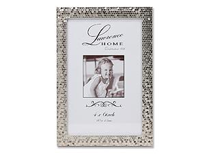 Lawrence 4x6 Silver Shimmer Metal Frame