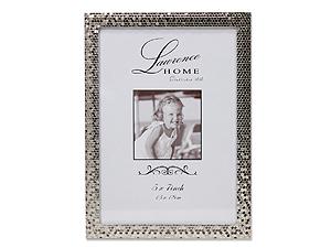 Lawrence 5x7 Silver Shimmer Metal Frame