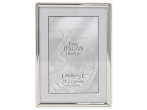 Lawrence Simply Silver Metal Frame For 3.5x5