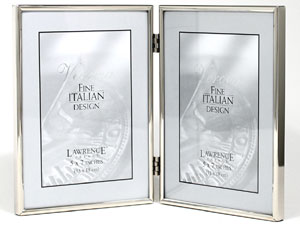 Lawrence Simply Silver Metal Double Frame For 5x7