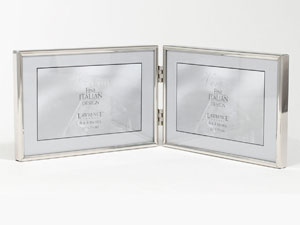 Lawrence Simply Silver Metal Double Frame For 6x4