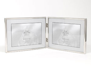Lawrence Simply Silver Metal Double Frame For 7x5