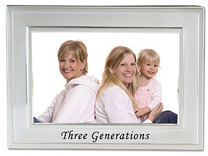 Lawrence 4x6 Silver Sentiments Three Generations Frame