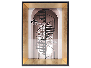 Lawrence 4x6 Vanessa Gold & Black Picture Frame