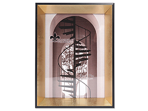 Lawrence 5x7 Vanessa Gold & Black Picture Frame