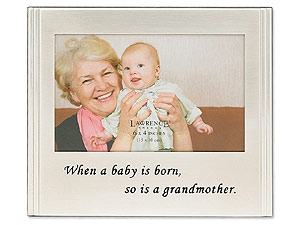 Lawrence 4x6 Silver Sentiments Baby & Grandmother Frame