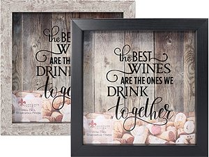 Lawrence 10x10 Wine Cork Holder Shadow Box Frame