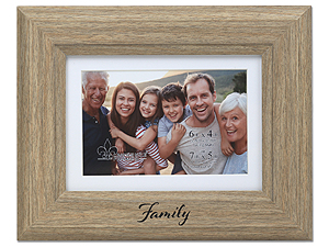 Lawrence Family Picture Frame with Mat - Willow Natural Birch