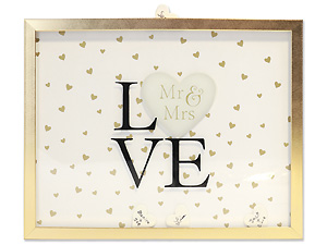 Lawrence 10x13 Wedding Shadow Box w/Heart Signature Tiles