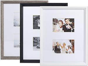 Lawrence 11x14 Wide Border Matted Gallery Frame For Two 4x6