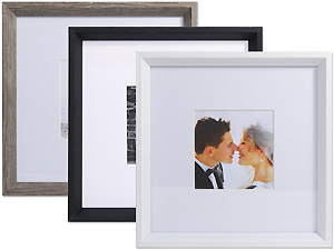 Lawrence 10x10 Wide Border Matted Gallery Frame For 5x5