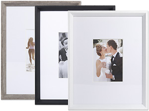 Lawrence 11x14 Wide Border Matted Gallery Frame For 5x7