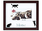 Lawrence Walnut Shadow Box Cat Photo Frame For 4x6