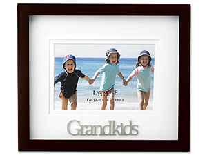 Lawrence Walnut Shadow Box Grandkids Frame For 4x6
