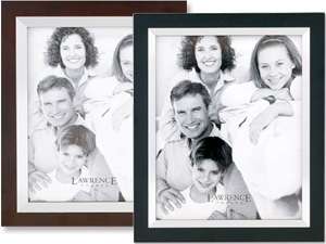 Lawrence 8x10 Wood & Silver Metal Picture Frame